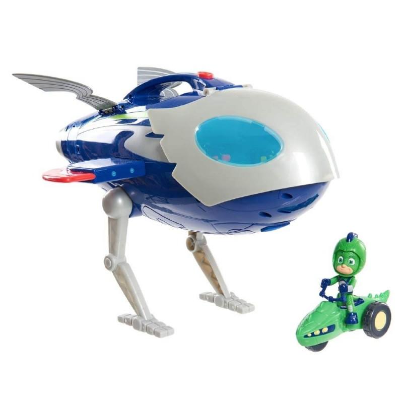 PJ Masks Super Moon Adventure HQ Rocket Ιπτάμενο Αρχηγείο PJU02000