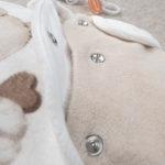 Φορμάκι Σενίλ Κρεμ με Αρκουδάκι για Κορίτσι