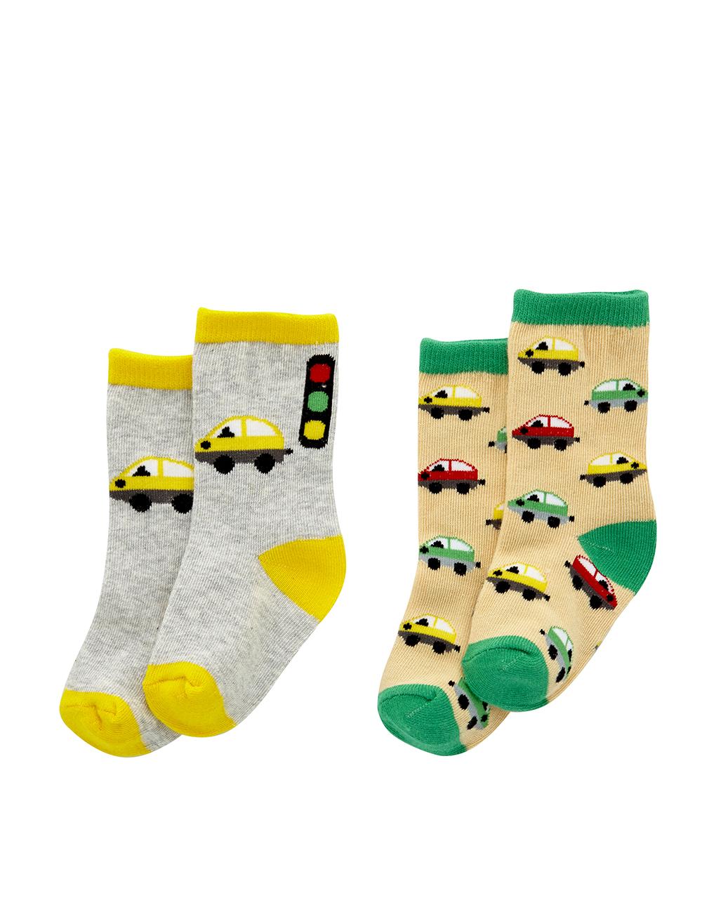Κάλτσες με Σχέδια Πακέτο x2 για Αγόρι