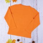 Μπλούζα Μακρυμάνικη Βαμβακερή Πορτοκαλί με Στάμπα για Αγόρι