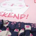 """Πιτζάμα με Γατάκια """"Finally Weekend"""" για Κορίτσι"""