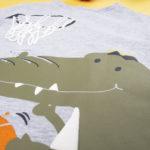 Μπλουζάκι Μακρυμάνικο με Δεινόσαυρο για Αγόρι