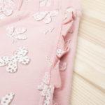 Κολάν Ροζ με Εμπριμέ Στάμπα Πεταλούδες για Κορίτσι