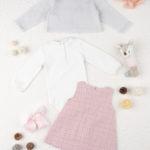Σετ Κορμάκι Φόρεμα και Ζακέτα 3 Τεμάχια για Κορίτσι