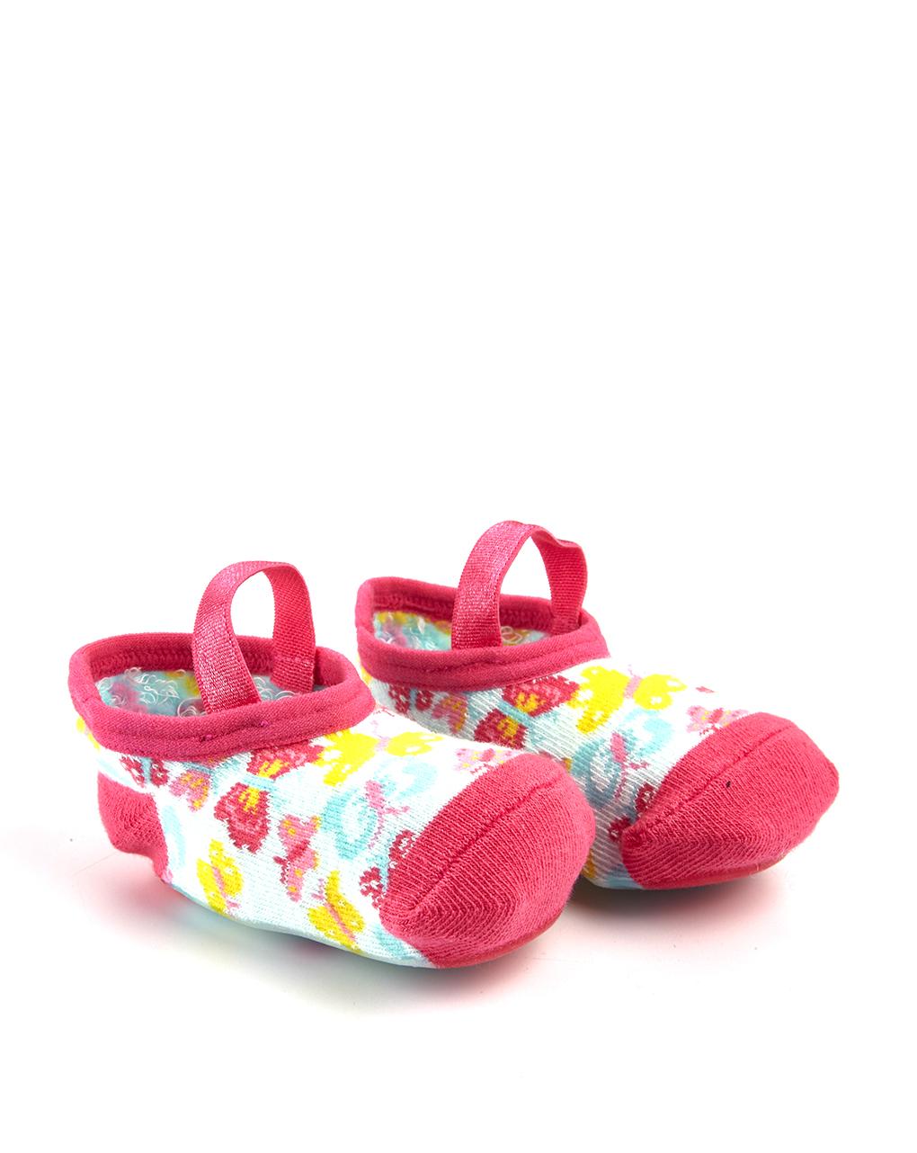 Αντιολισθητικά Καλτσάκια-Μπαλαρίνες για Κορίτσι