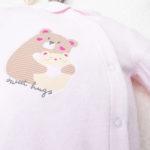Φορμάκι Σενίλ Ροζ με Αρκουδάκια για Κορίτσι
