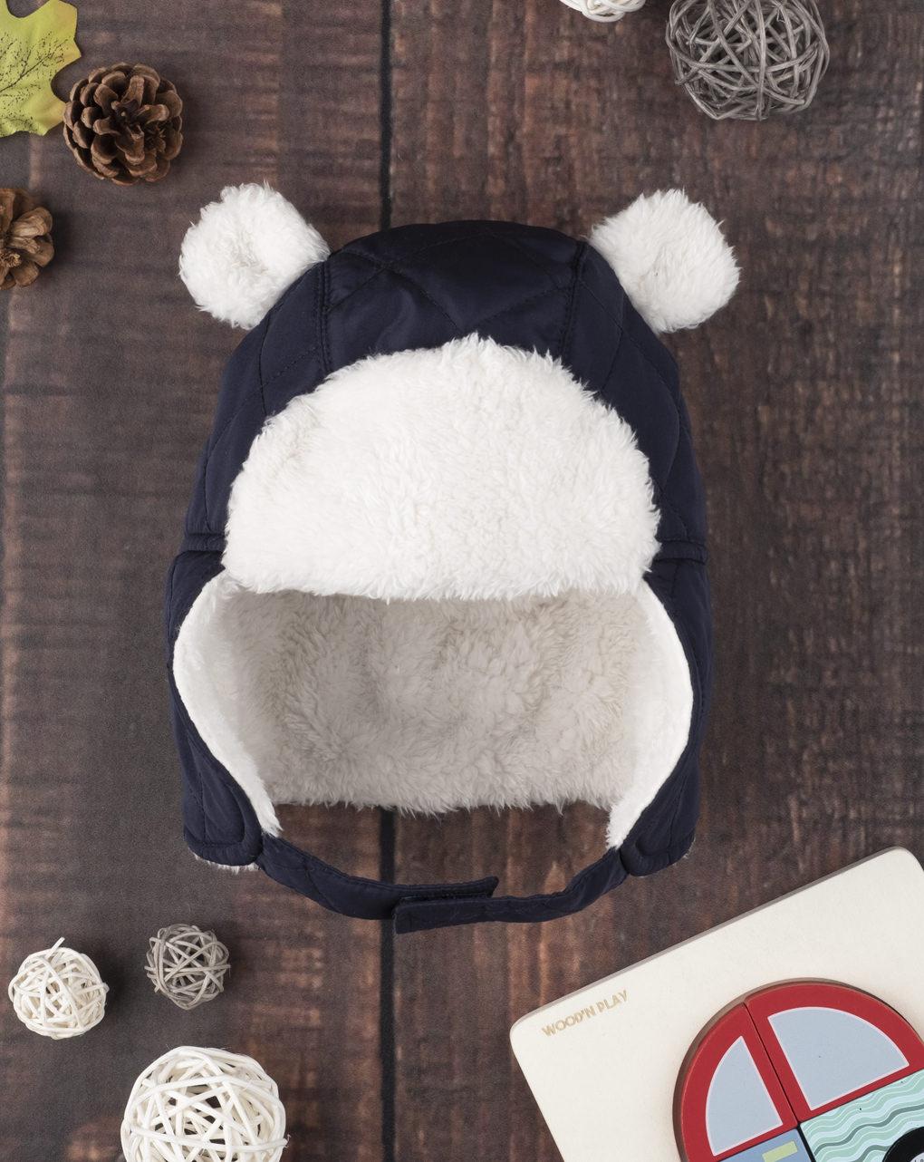 Καπέλο με Γούνα Nylon Μπλε για Αγόρι