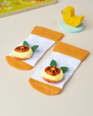 Κάλτσες με Πορτοκάλι Κουδουνίστρα για Αγόρι