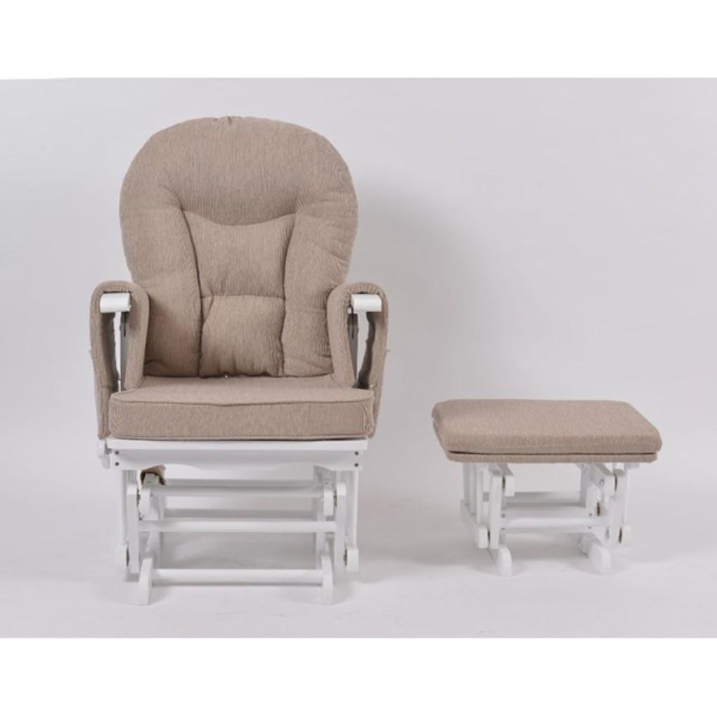 Καρέκλα Θηλασμού με Ανάκλιση Φρένο και Υποπόδιο - Λευκή