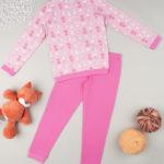 Πιτζάμα Interlock Ροζ με Στάμπα Γατάκια για Κορίτσι