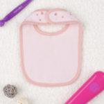 Σαλιάρα Ροζ με Καρδούλες για Κορίτσι