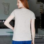 Γυναικείο T-shirt Εγκυμοσύνης-Θηλασμού με Πλαϊνά Κουμπάκια Μπεζ