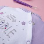 Φορμάκι Βαμβακερό Δίχρωμο Λιλά με Στάμπα για Κορίτσι