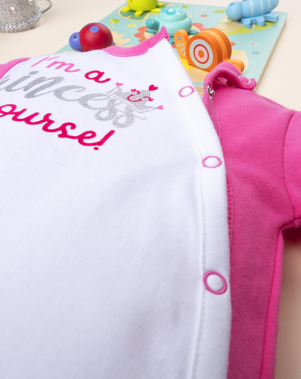 Φορμάκι Βαμβακερό Δίχρωμο με Στάμπα για Κορίτσι