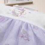 Φόρεμα Δίχρωμο με Στάμπα Αρκουδάκια για Κορίτσι