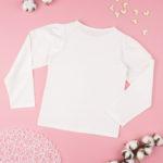 Μπλουζάκι Μακρυμάνικο Λευκό για Κορίτσι