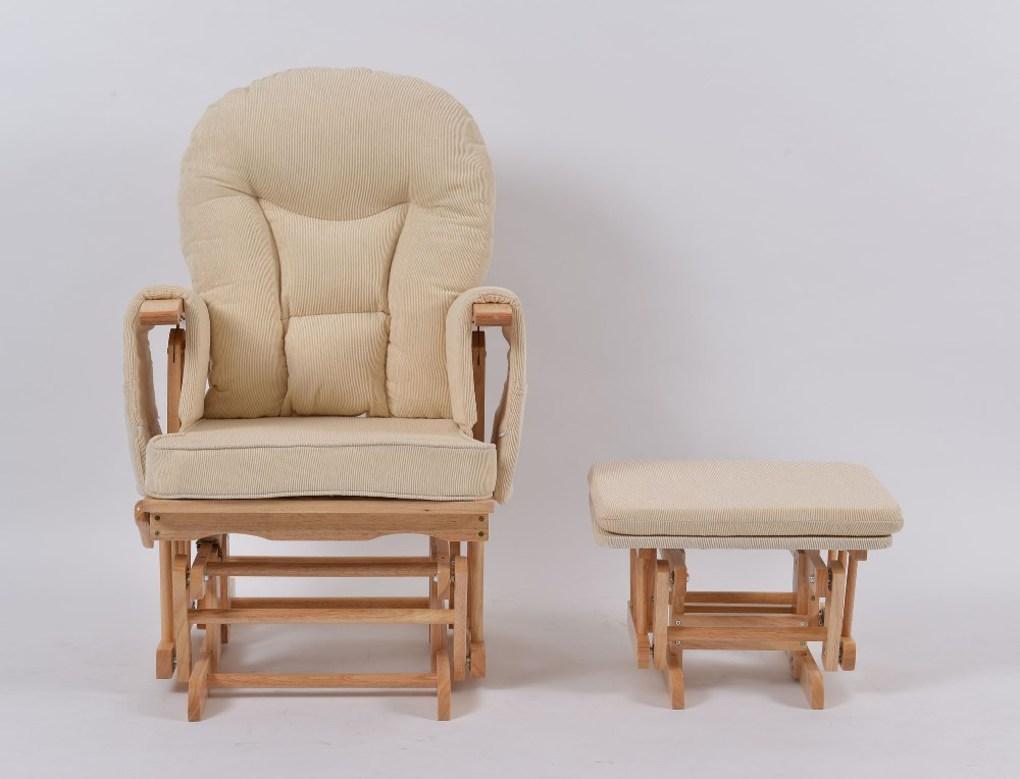 Καρέκλα Θηλασμού με Ανάκλιση Φρένο και Υποπόδιο - Μπεζ