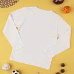 Μπλούζα Μακρυμάνικη Λευκή με Στάμπα για Αγόρι