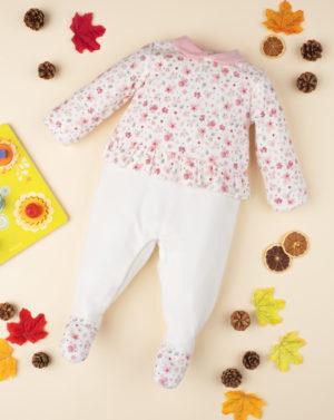 Φορμάκι Σενίλ με Floral Σχέδιο για Κορίτσι