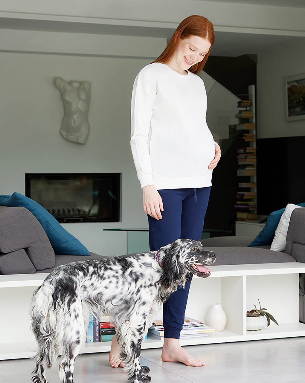 Γυναικεία Μπλούζα Θηλασμού Φούτερ Κρεμ