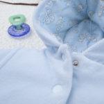 Μπουφάν Σενίλ με Κουκούλα Γαλάζιο για Αγόρι