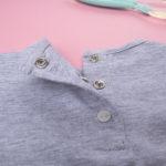 Μπλουζάκι Μακρυμάνικο με Στάμπα Γκρι για Κορίτσι