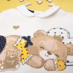 Σετ Μπλούζα και Γκέτες Βαμβακερό με Αρκουδάκι για Κορίτσι