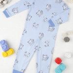 Πιτζάμα Ολόσωμη Με Γατάκια Γαλάζια για Αγόρι