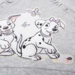 """Φούτερ με Στάμπα """"101 Σκυλιά Δαλματίας"""" Γκρι για Κορίτσι"""