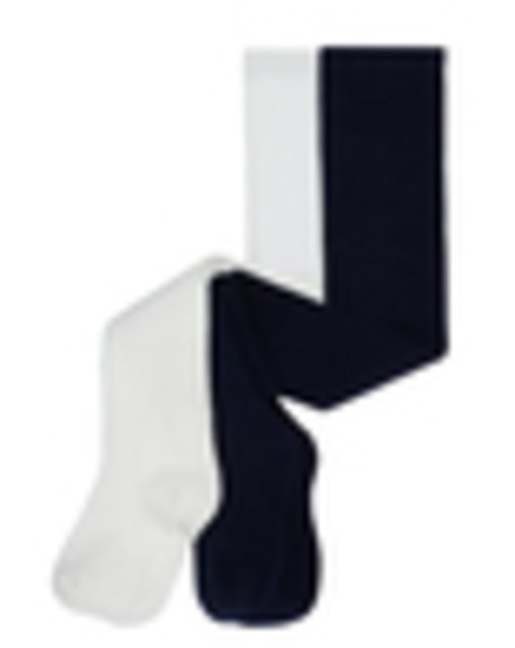 Καλσόν Βαμβακερό Κρεμ Σκούρο Μπλε Πακέτο x2 για Κορίτσια