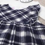 Σετ Κορμάκι και Φόρεμα Βαμβακερά Μαύρο για Κορίτσι