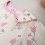 Πιτζάμα Interlock Ροζ με Λαγουδάκια για Κορίτσι