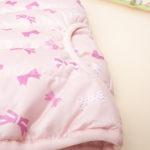 Μπουφάν Αμάνικο Με Φιογκάκια Ροζ για Κορίτσι