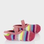 Αντιολισθητικά Καλτσάκια-Μπαλαρίνες Ριγέ για Κορίτσια
