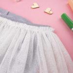 Κολάν με Φούστα Γκρι/Λευκό για Κορίτσι