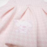 Σετ Κορμάκι και Φόρεμα Βαμβακερά Ροζ για Κορίτσι