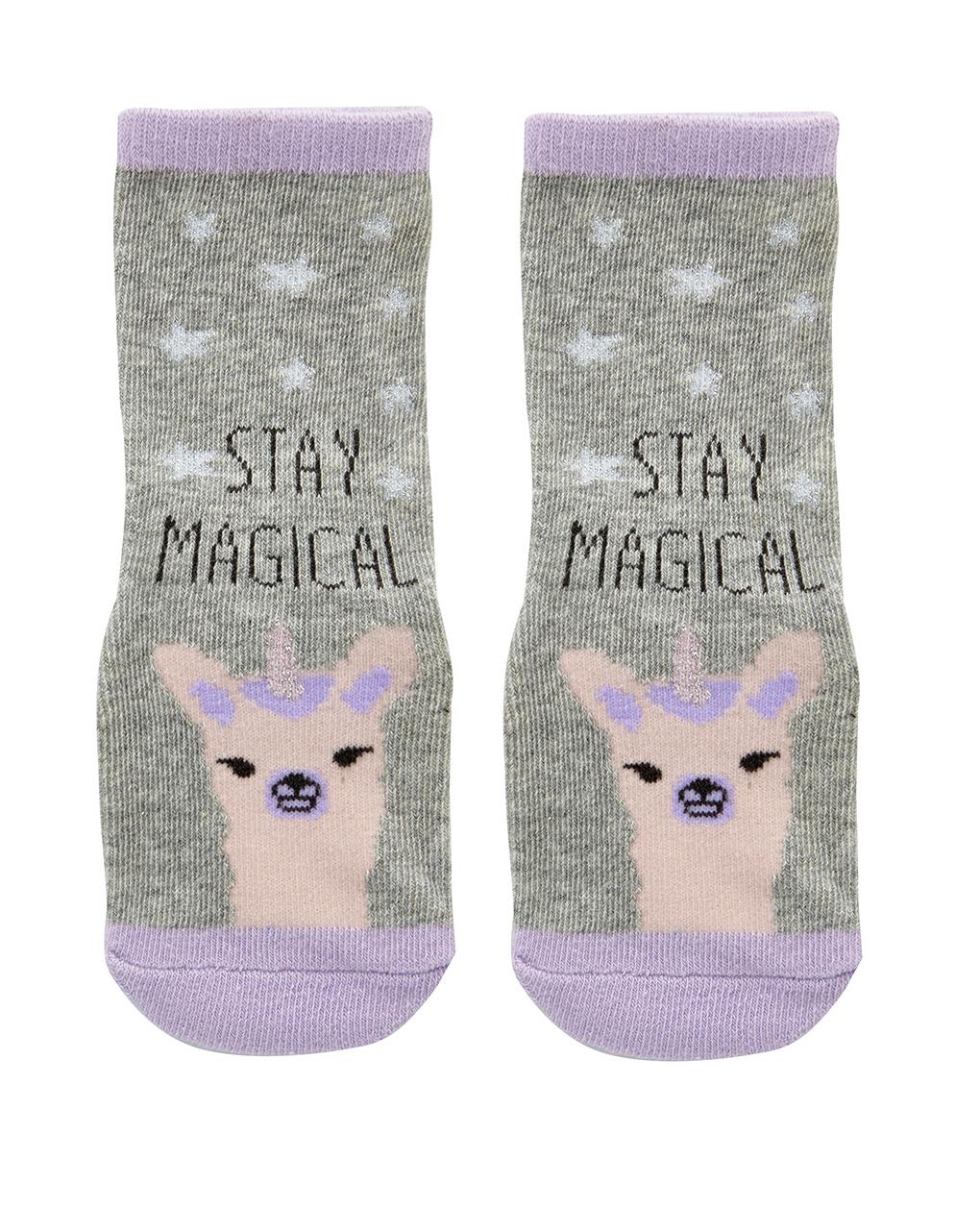 Αντιολισθητικές Κάλτσες με Στάμπα για Κορίτσι