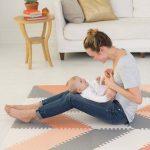 Skip Hop Χαλάκι Παιχνιδιού Playspot Geo Foam Floor Tiles Grey/Peach