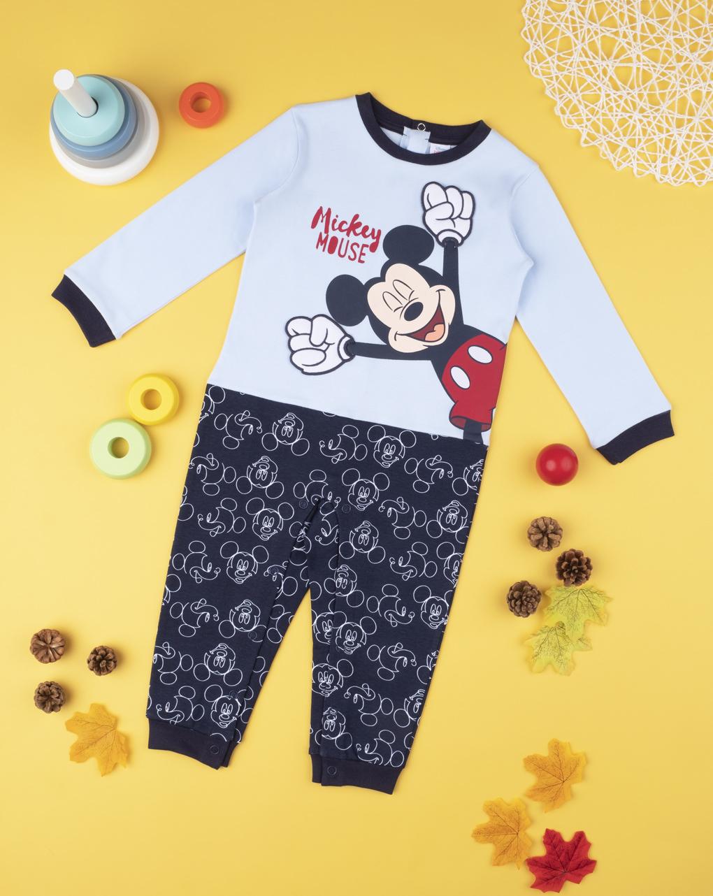 Πιτζάμα Ολόσωμη Σκούρο Μπλε με τον Mickey για Αγόρι