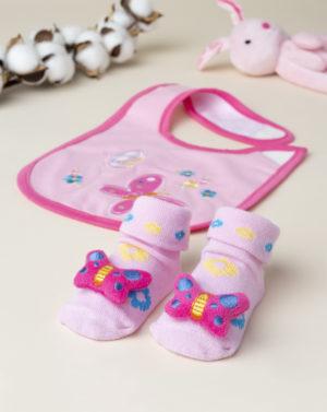 Σετ Σαλιάρα και Κάλτσες για Κορίτσι