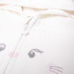 Ζακέτα Φόρμας με Γατάκι Λευκή για Κορίτσι
