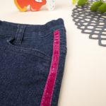 Παντελόνι Denim με 'Ενθετες Λωρίδες για Κορίτσι