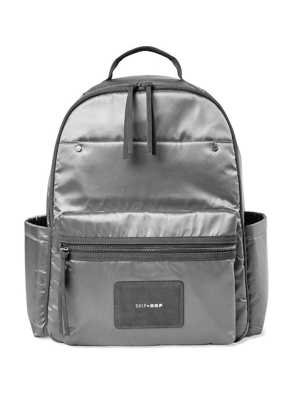 Skip Hop Τσάντα - Αλλαξιέρα Skyler Diaper Backpack- Shiny Grey