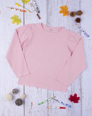 Μπλούζα Μακρυμάνικη Βαμβακερή Ροζ για Κορίτσι