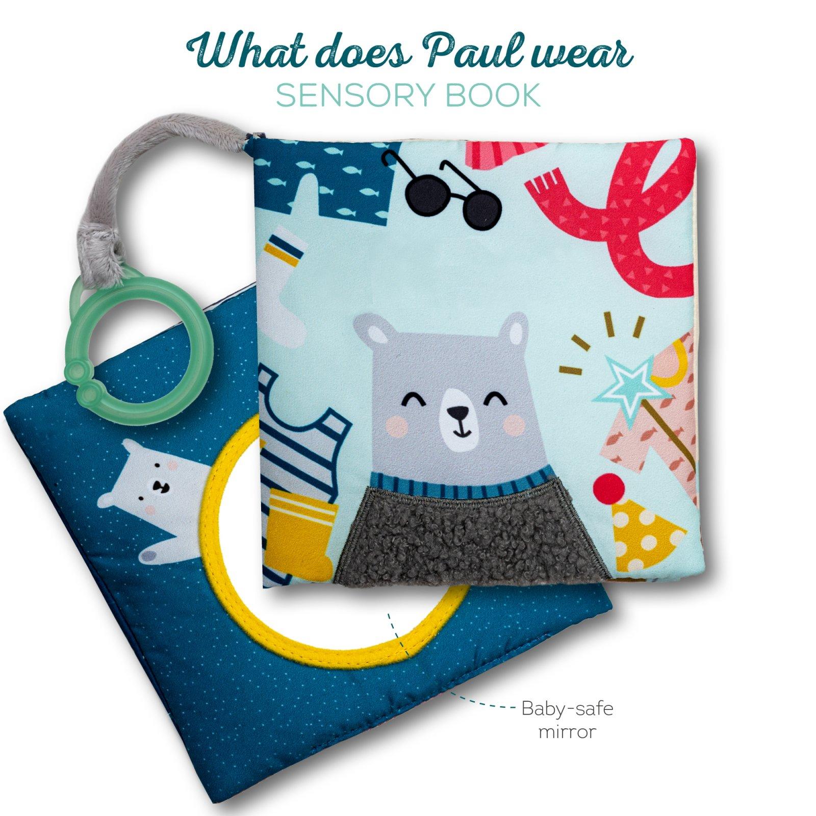Taf Toys Εκπαιδευτικό Βιβλιαράκι What Does Paul Wear T-12605