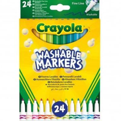 Crayola 24 Μαρκαδόροι με Λεπτή Μύτη