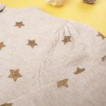 Μπλούζα Πλεκτή Μπεζ με Αστεράκια για Κορίτσι