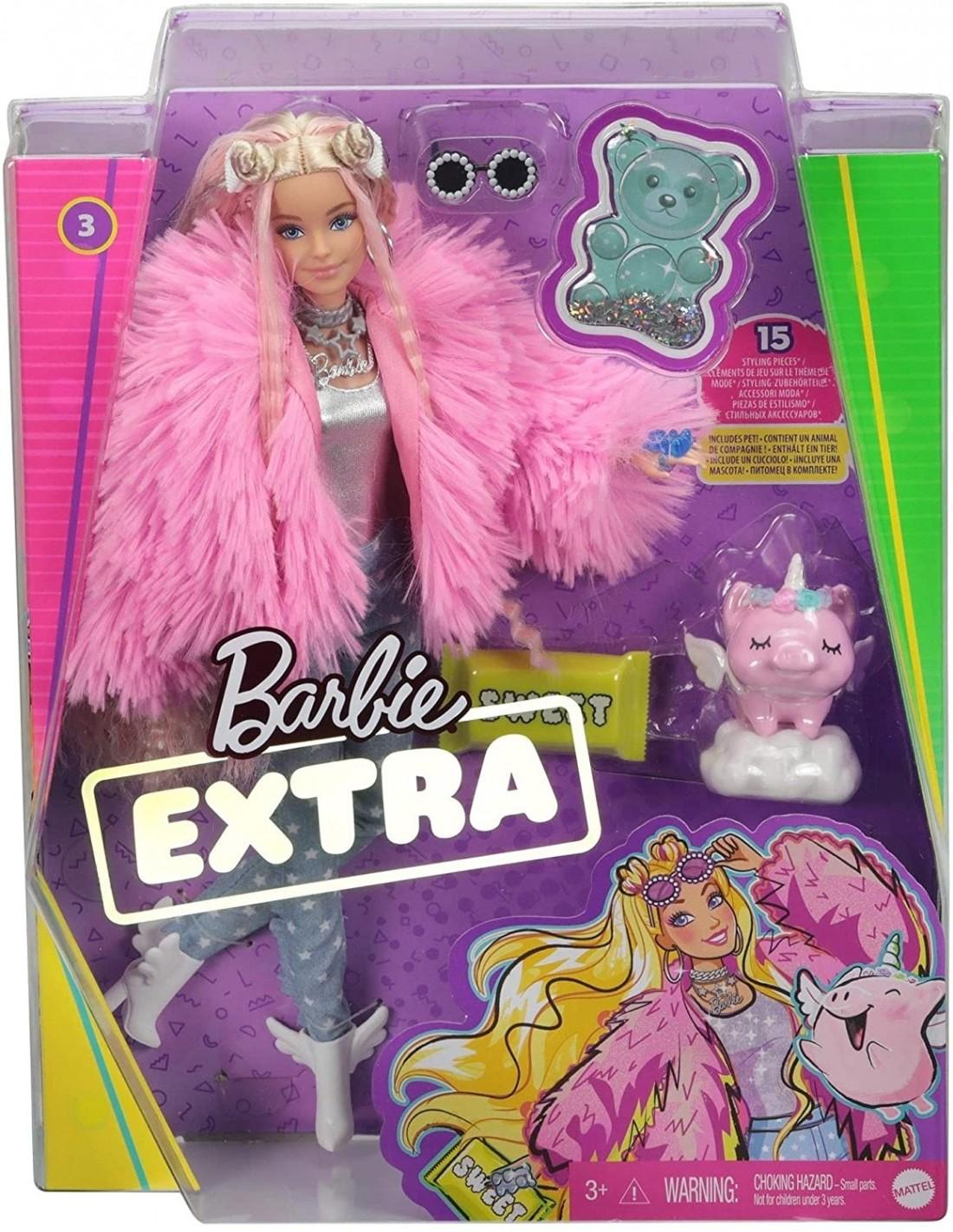 Barbie Extra-Fluffy Pink Jacket GRN28