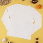 Μπλούζα Μακρυμάνικη Βαμβακερή Λευκή με Στάμπα για Αγόρι