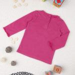 Μπλούζα Μακρυμάνικη Φούξια με Μονόκερο για Κορίτσι